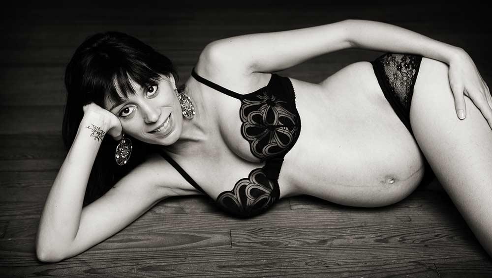 Photos de grossesse lingerie