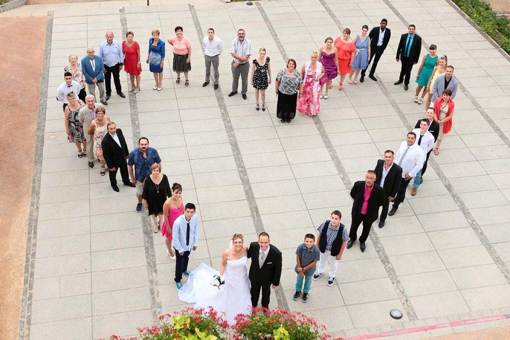Photo originale mariage groupe