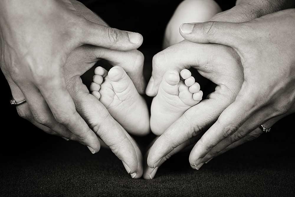 Photo pieds de bébé