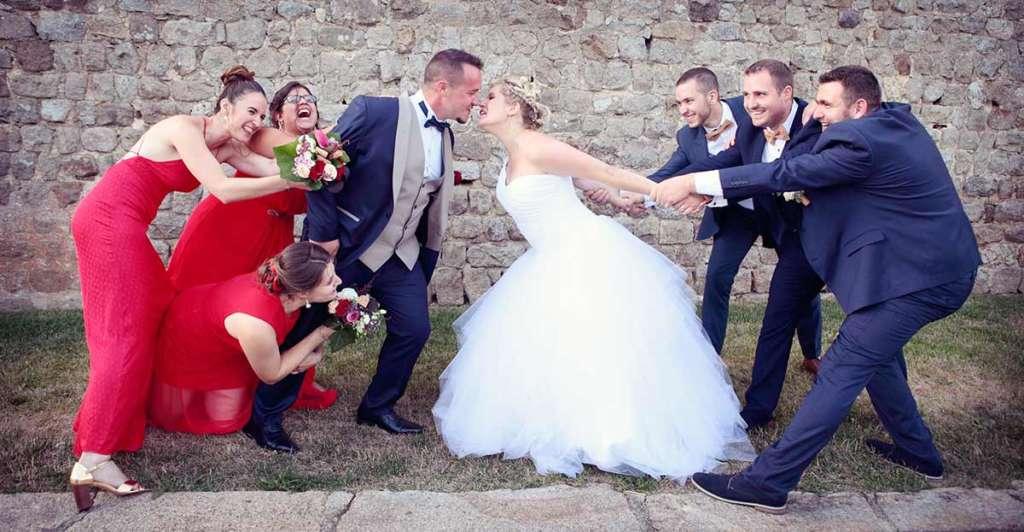 Photos de mariage originale témoins