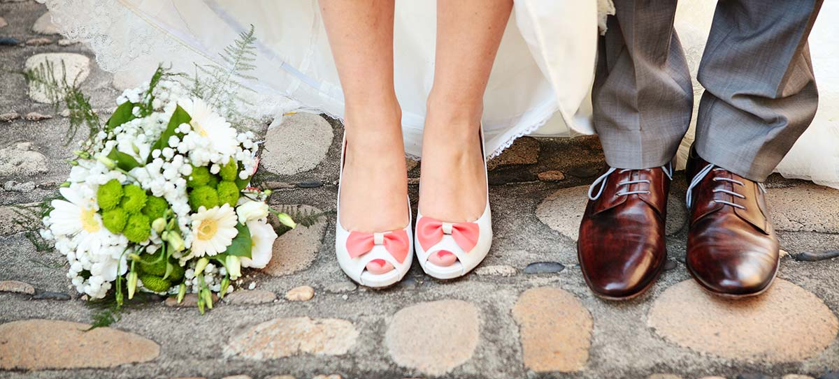 Photo mariage chaussures