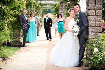 Photo groupe mariage temoins