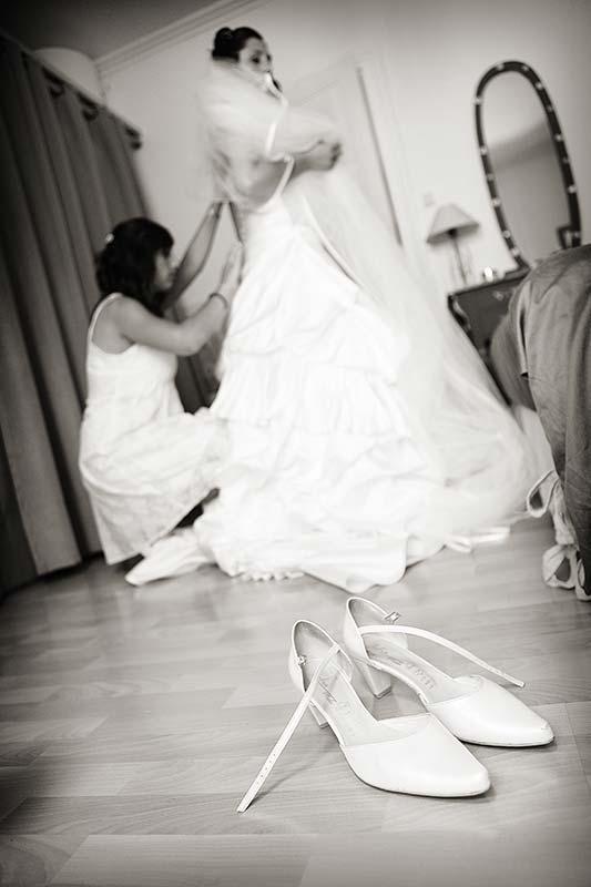 Photo preparatifs mariage