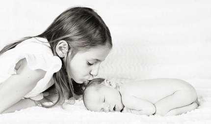 Photo de bébé soeurs
